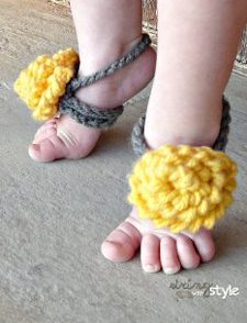 10 Minute Baby Sandals Free Crochet Pattern
