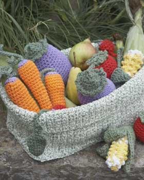 2 Strand Fold Basket Free Crochet Pattern