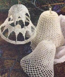 3 Lace Bell Ornaments Free Crochet Patterns