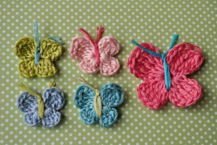 3 Minute Butterfly Free Crochet Pattern
