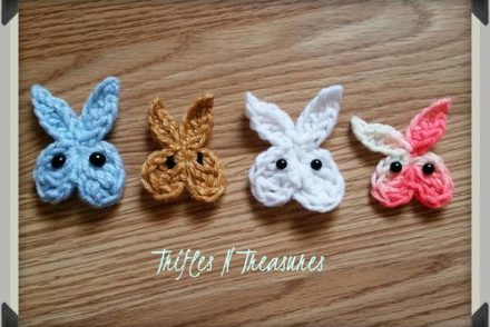 5 Minute Bunny Applique Free Crochet Pattern