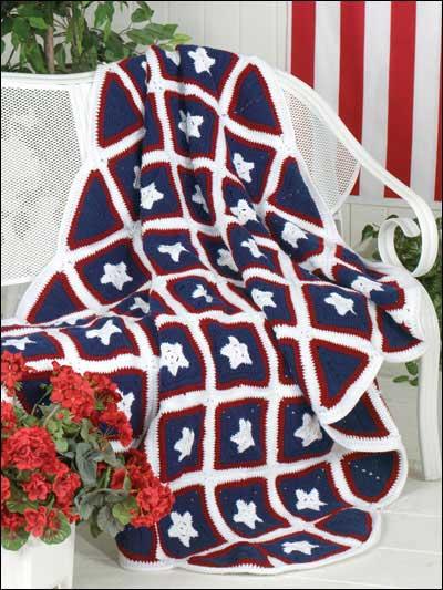 50 Stars Afghan Free Crochet Pattern
