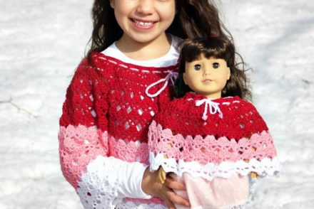 Abby's Dolly & Me Poncho Free Crochet Patterns