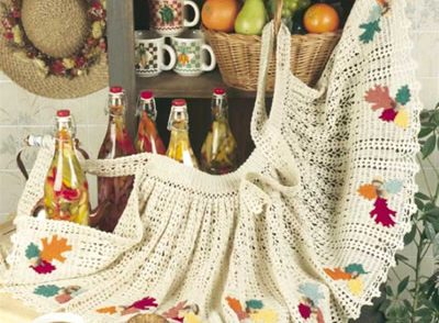 Acorn Apron Free Crochet Pattern