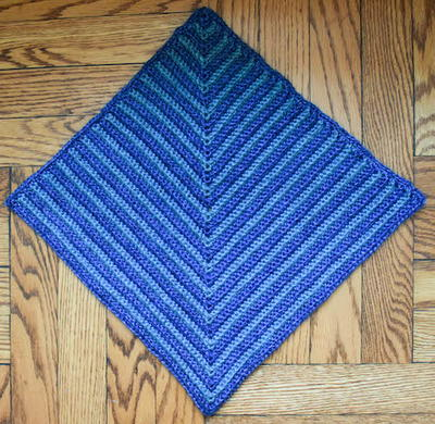 Adjustable Mitered Square Pet Blanket Free Crochet Pattern