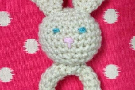 Adorable Bunny Baby Toy Free Crochet Pattern