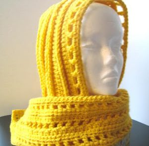 Aesthetic Hooded Scarf Free Crochet Pattern
