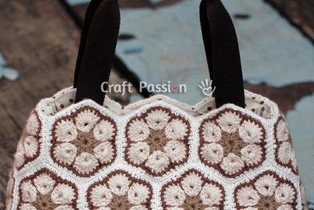 African Flower Purse Free Crochet Pattern