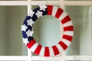All-American Wreath Free Crochet Pattern