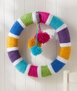 All Year Rainbow Wreath Free Crochet Pattern
