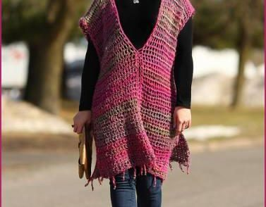 All Year Round Poncho Free Crochet Pattern