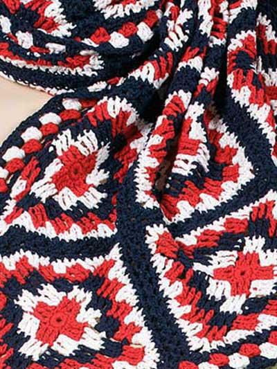 American Fireworks Afghan Free Crochet Pattern