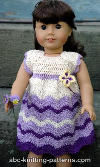 American Girl Doll Chevron Dress Free Crochet Pattern - Craft ideas ...