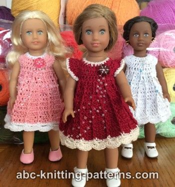 American Girl Doll Dress Free Crochet Pattern Craft Ideas For