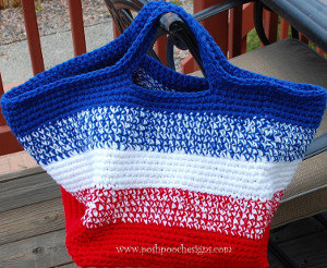 American Striped Bag Free Crochet Pattern