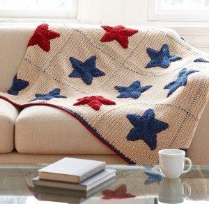Americana Afghan Free Crochet Pattern