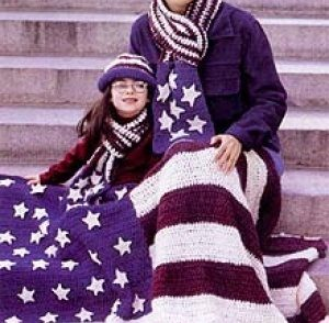 Americana Flag Afghan Free Crochet Pattern