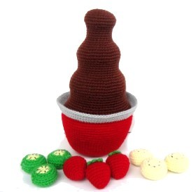 Amigurumi Chocolate Fountain Free Crochet Pattern