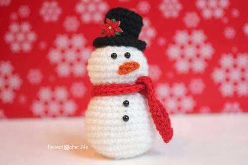 Amigurumi Snowman Free Crochet Pattern