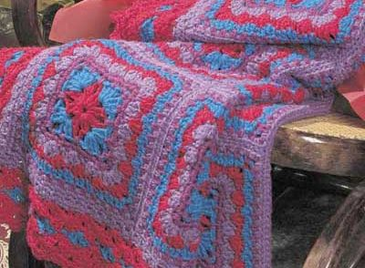 Amish Print Afghan Free Crochet Pattern