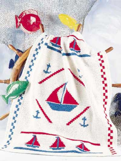 Anchors Aweigh! Blanket Free Crochet Pattern