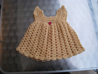 Angel Wings Pinafore Dress Free Crochet Pattern