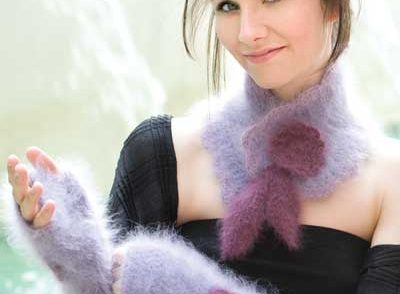 Angora Scarf & Gloves Free Crochet Pattern