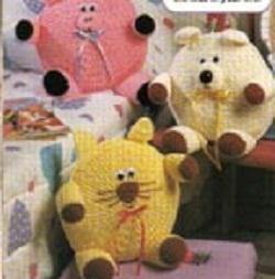 Animal Pillows Free Crochet Pattern