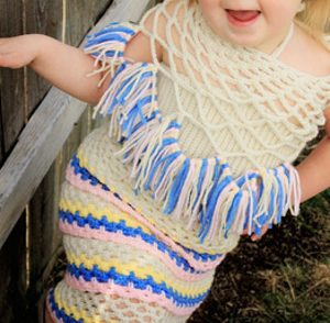 Any Holiday Baby Dress Free Crochet Pattern