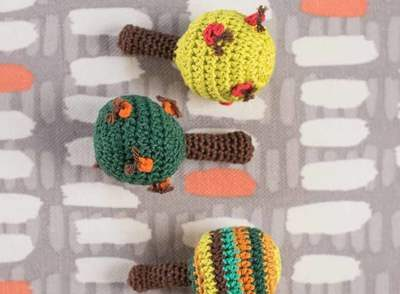 Apple Tree Baby Rattles Free Crochet Pattern