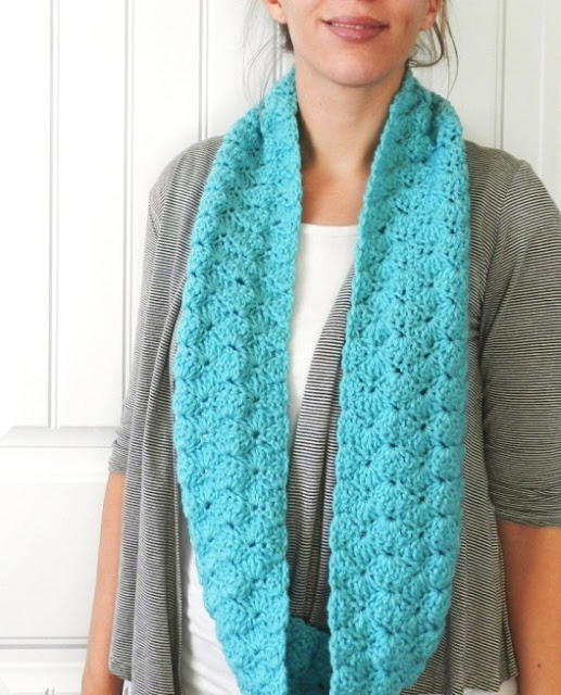 Aqua Infinity Scarf Free Crochet Pattern Craft Ideas For Adults