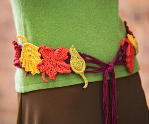 Autumn Leaves Belt Free Crochet Pattern