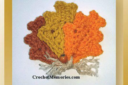 Autumn Leaves Fridgie Free Crochet Pattern