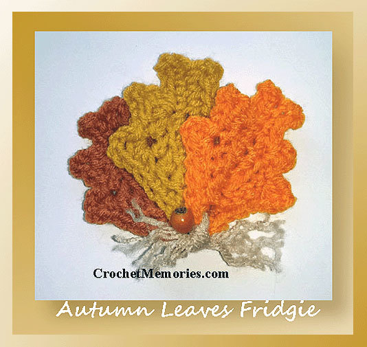 Autumn Leaves Fridgie Free Crochet Pattern