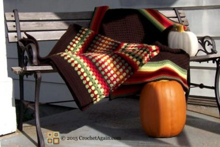 Autumn Medley Granny Afghan Free Crochet Pattern