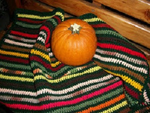 Autumn Stripes Wheelchair Lapghan Free Crochet Pattern