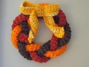 Autumn Wreath Free Crochet Pattern