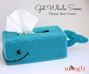 Baby Beluga Tissue Box Cover Free Crochet Pattern