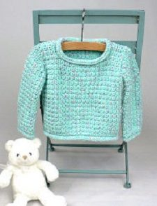 Baby Pullover Sweater Free Crochet Pattern