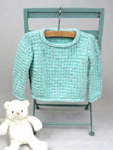 Baby Pullover Sweater Free Crochet Pattern