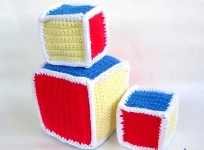 Baby Rattle Blocks Free Crochet Pattern
