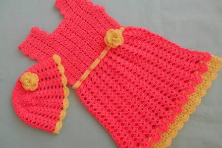 Baby Shell Stitch Frock Dress Free Crochet Pattern