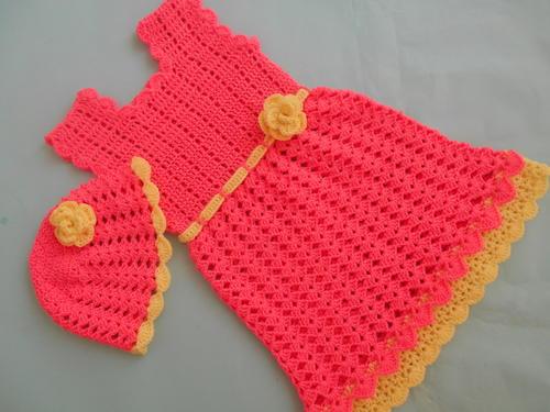 Baby Shell Stitch Frock Dress Free Crochet Pattern Craft Ideas For