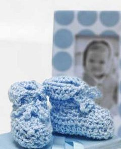 Baby Shower Booties Free Crochet Pattern