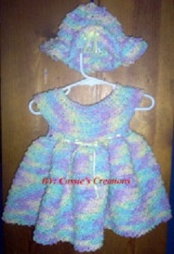Baby's Summer Dress and Hat Free Crochet Pattern