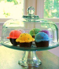 Bake Me a Cake Cupcakes Free Crochet Pattern