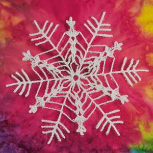 Bamboo Snowflake Free Crochet Pattern