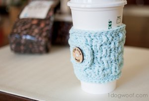 Basic Coffee Cozy Free Crochet Pattern