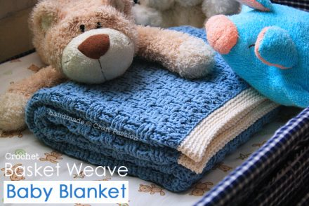 Basket Weave Baby Blanket Free Crochet Pattern