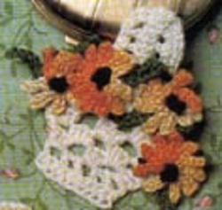 Basket of Sunflowers Free Crochet Pattern